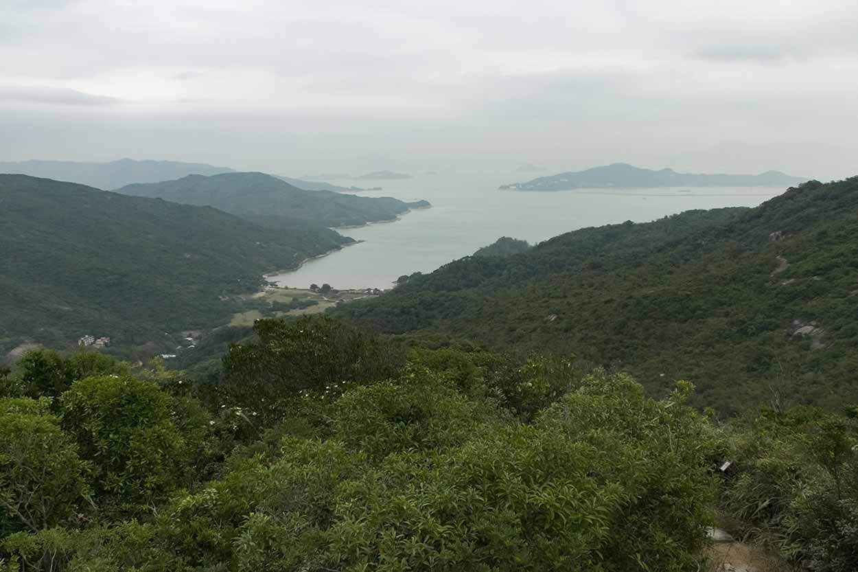 Views over Chi Ma Wan, Chi Ma Wan Country Trail, Lantau Island, Hong Kong, China