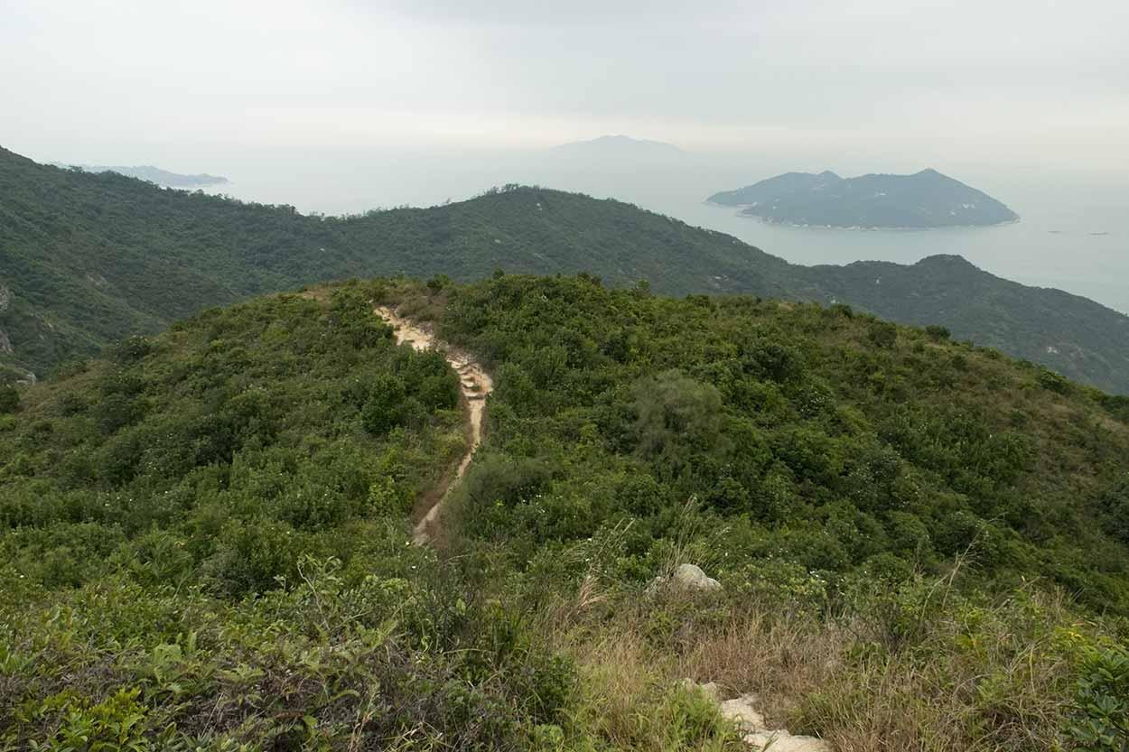 Great views over the Chi Ma Wan peninsula, Chi Ma Wan Country Trail, Lantau Island, Hong Kong, China