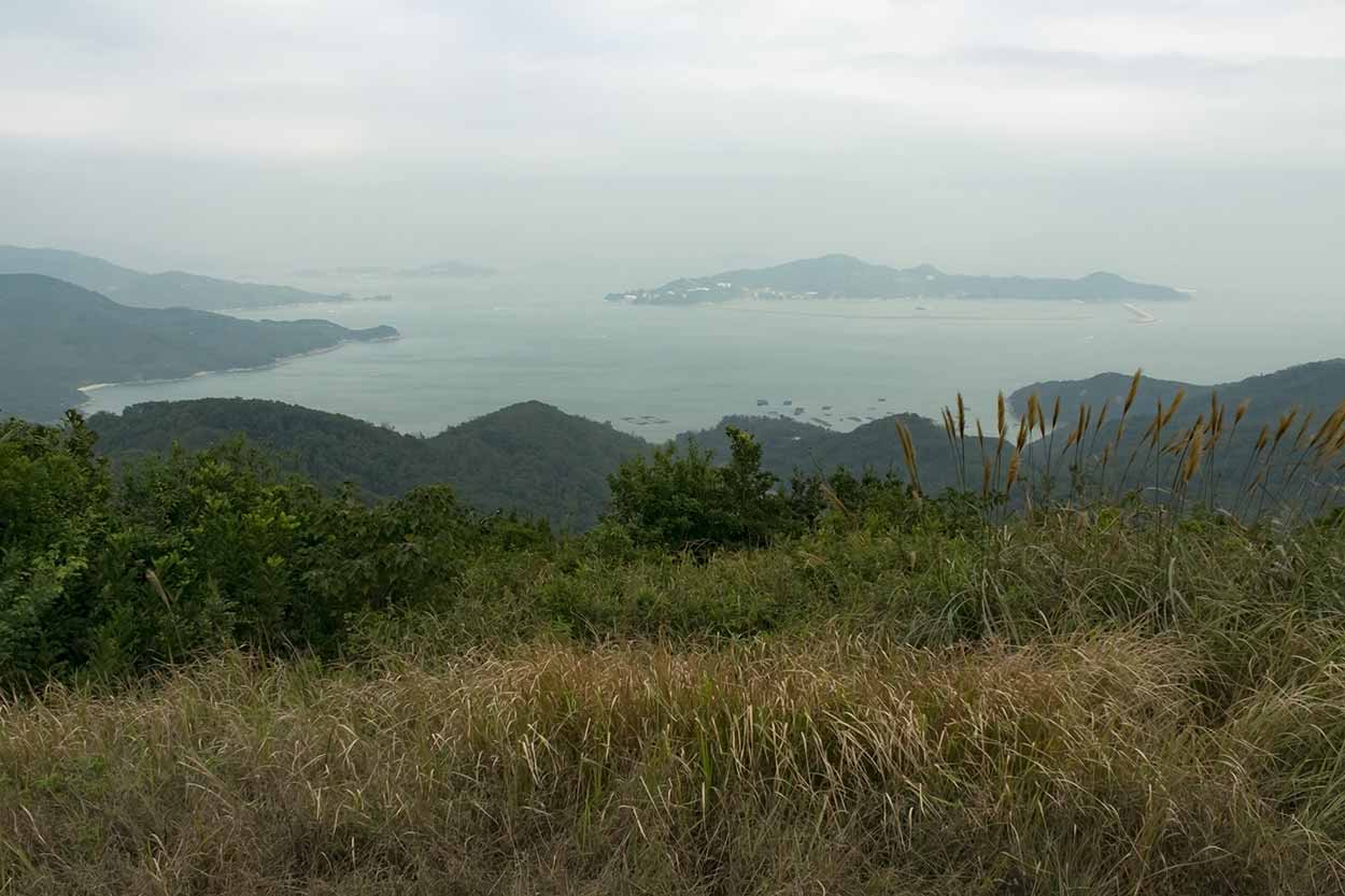 Views from the summit of Lo Yan Shan, Chi Ma Wan Country Trail, Lantau Island, Hong Kong, China