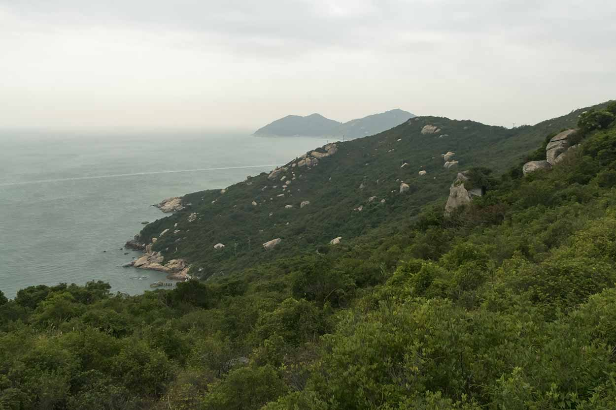 Stunning coastline views, Chi Ma Wan Country Trail, Lantau Island, Hong Kong, China