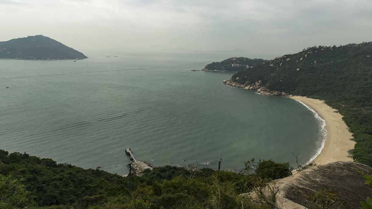 Views over Tai Long Wan, Chi Ma Wan Country Trail, Lantau Island, Hong Kong, China
