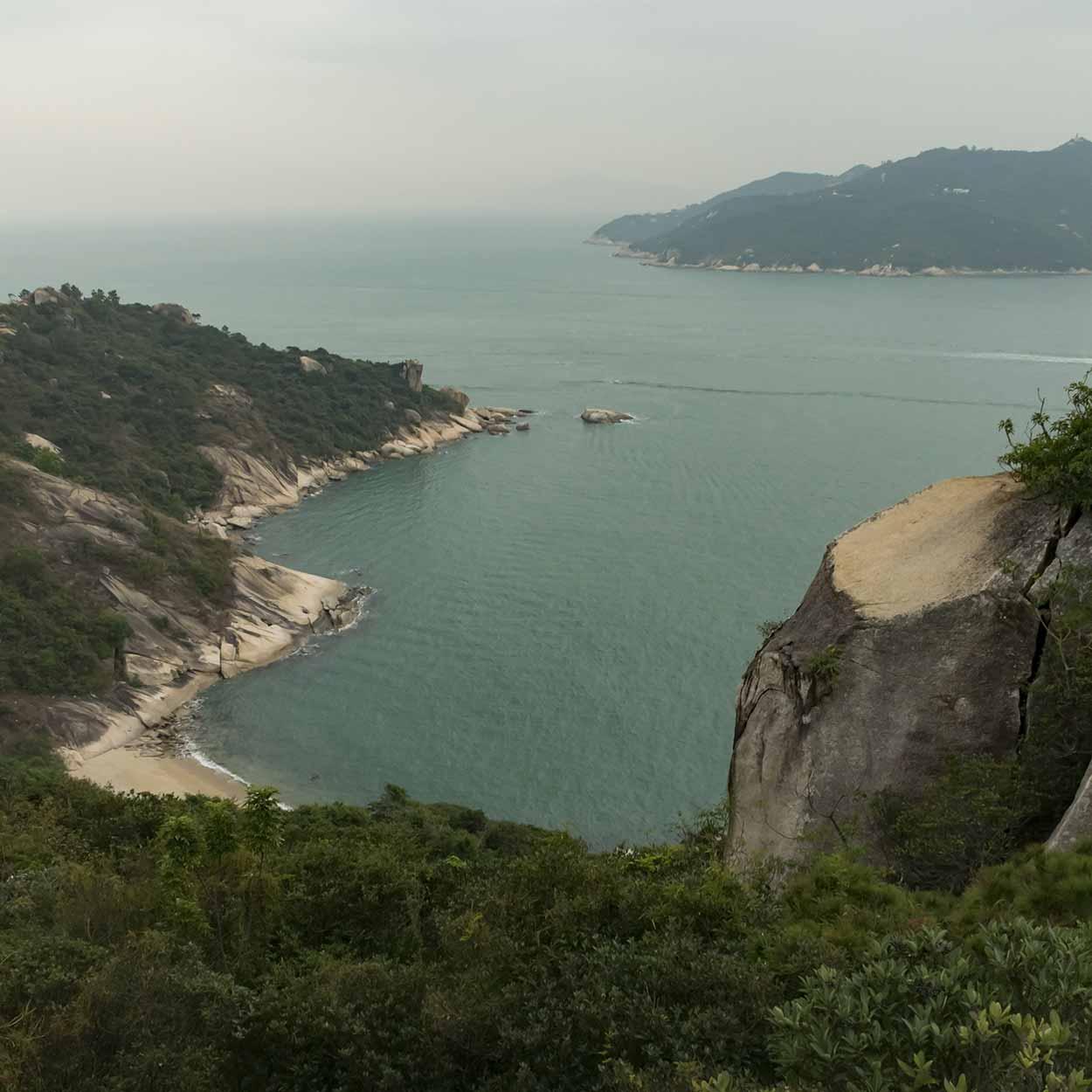 Views to Shek Kwu Chau, Chi Ma Wan Country Trail, Lantau Island, Hong Kong, China