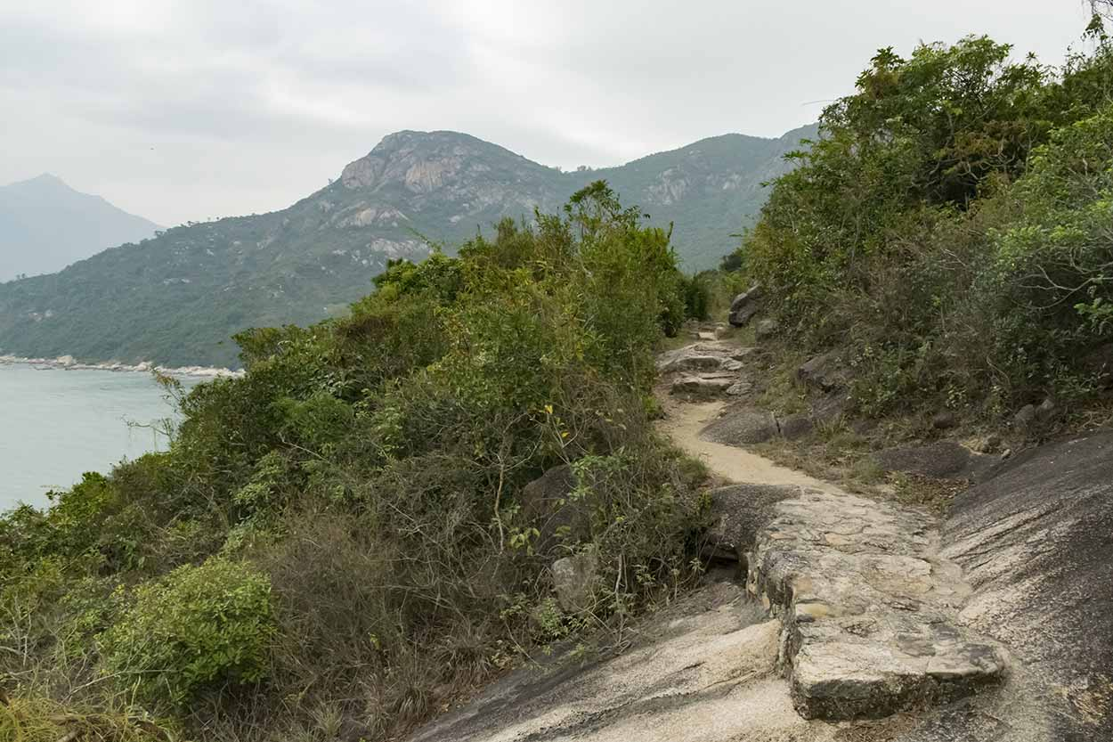 A path with a view, Chi Ma Wan Country Trail, Lantau Island, Hong Kong, China