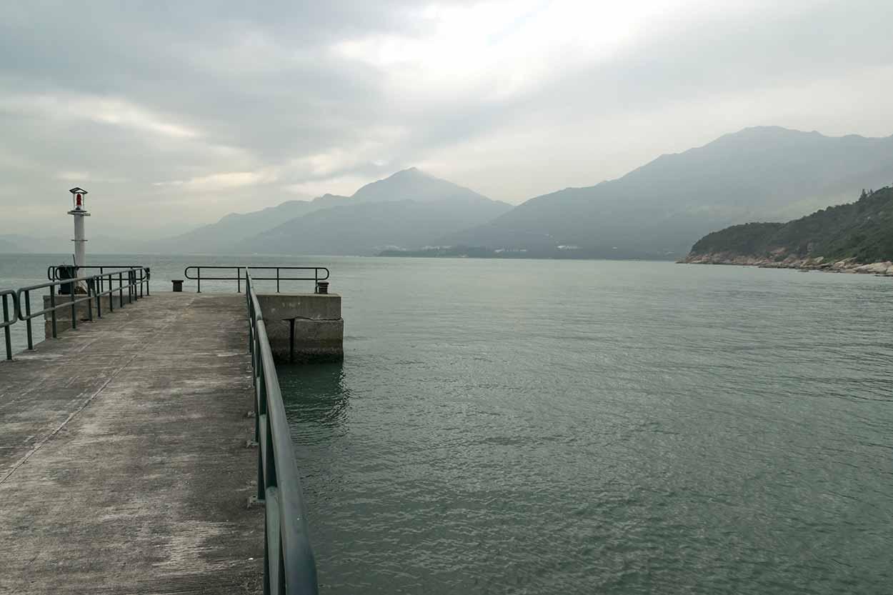 Views over Mong Tung Wan to Lantau Island peaks, Chi Ma Wan Country Trail, Lantau Island, Hong Kong, China
