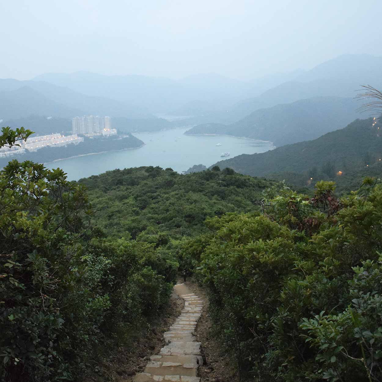 Looking towards Tai Tam Harbour, Dragon's Back, Hong Kong Trail Section 8, China