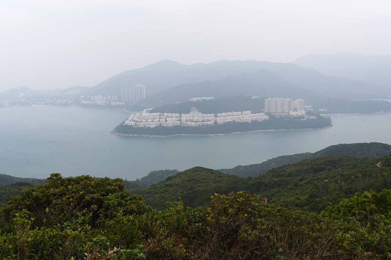 Views to Tai Tam Harbour, Dragon's Back, Hong Kong Trail Section 8, China