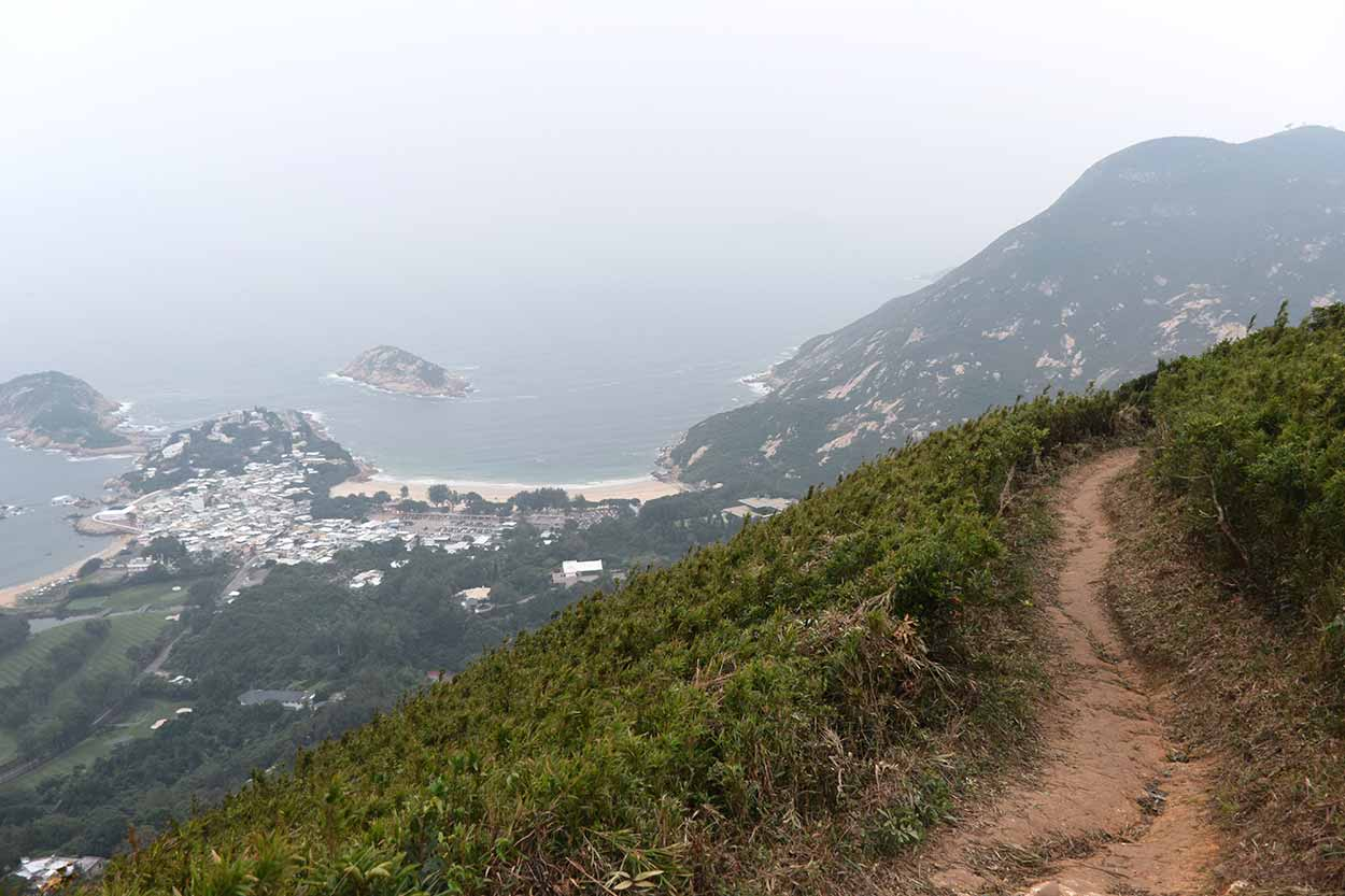 Amazing views to Shek O, Dragon's Back, Hong Kong Trail Section 8, China