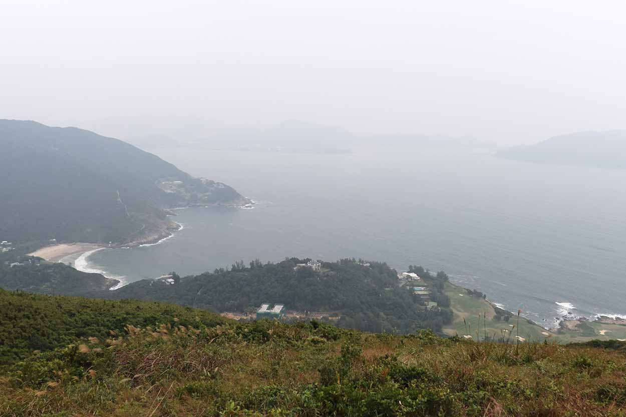 Views to Big Wave Bay, Dragon's Back, Hong Kong Trail Section 8, China