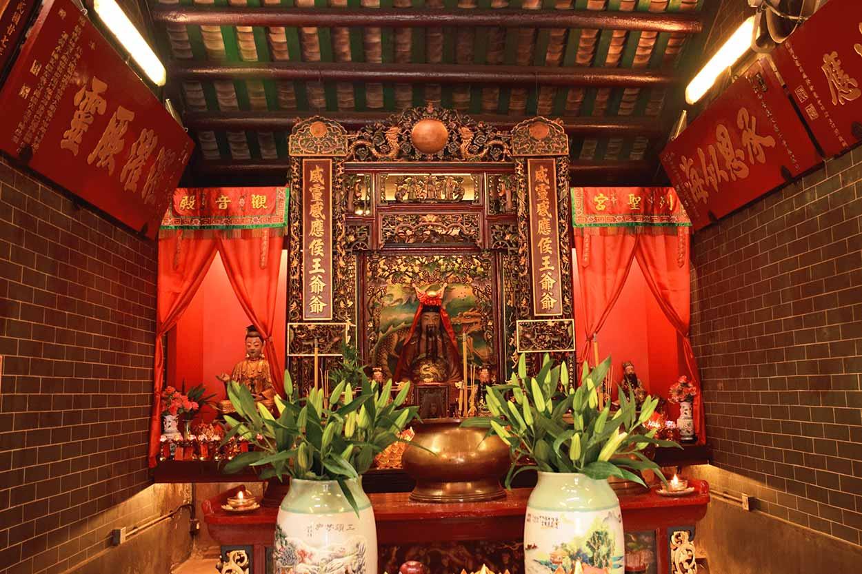 Main hall at Hau Wong Temple, Hong Kong, China