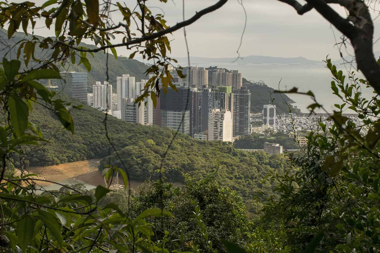 Views over Aberdeen Lower Reservoir and Wong Chuk Hang, Hong Kong Trail Section 3, China