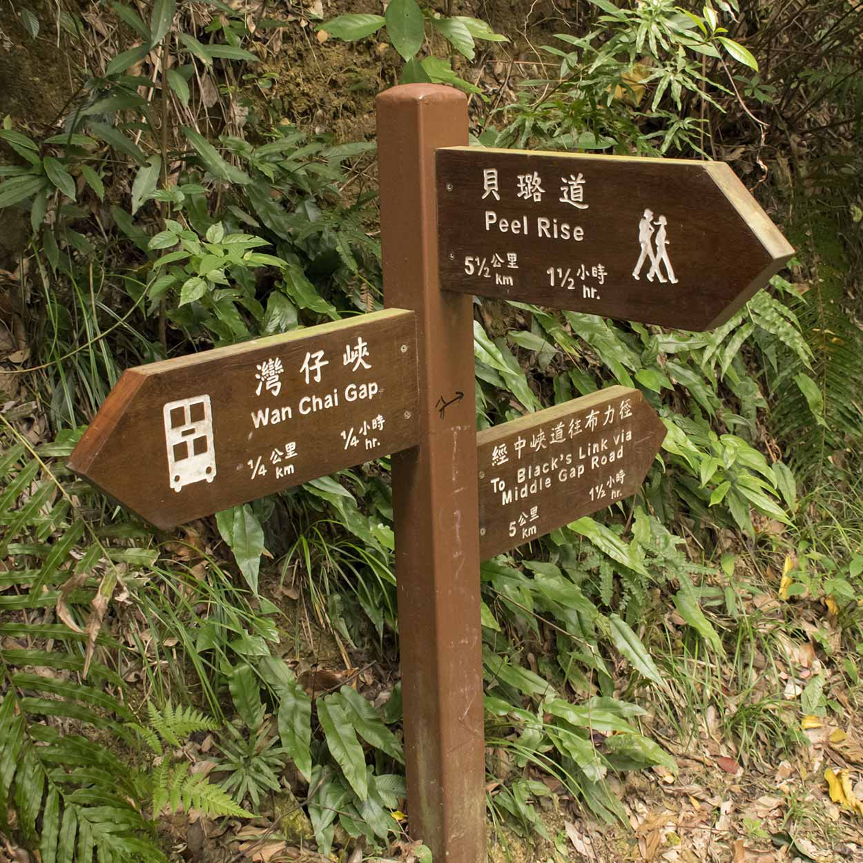 The junction of Lady Clementi's Ride and the Hong Kong Trail, Hong Kong, China