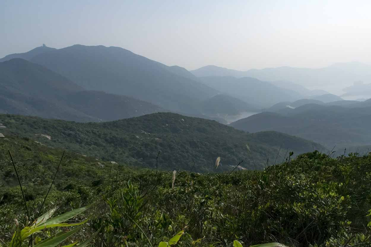 Views to Tai Tam Reservoir, Hong Kong Trail Section 5, China
