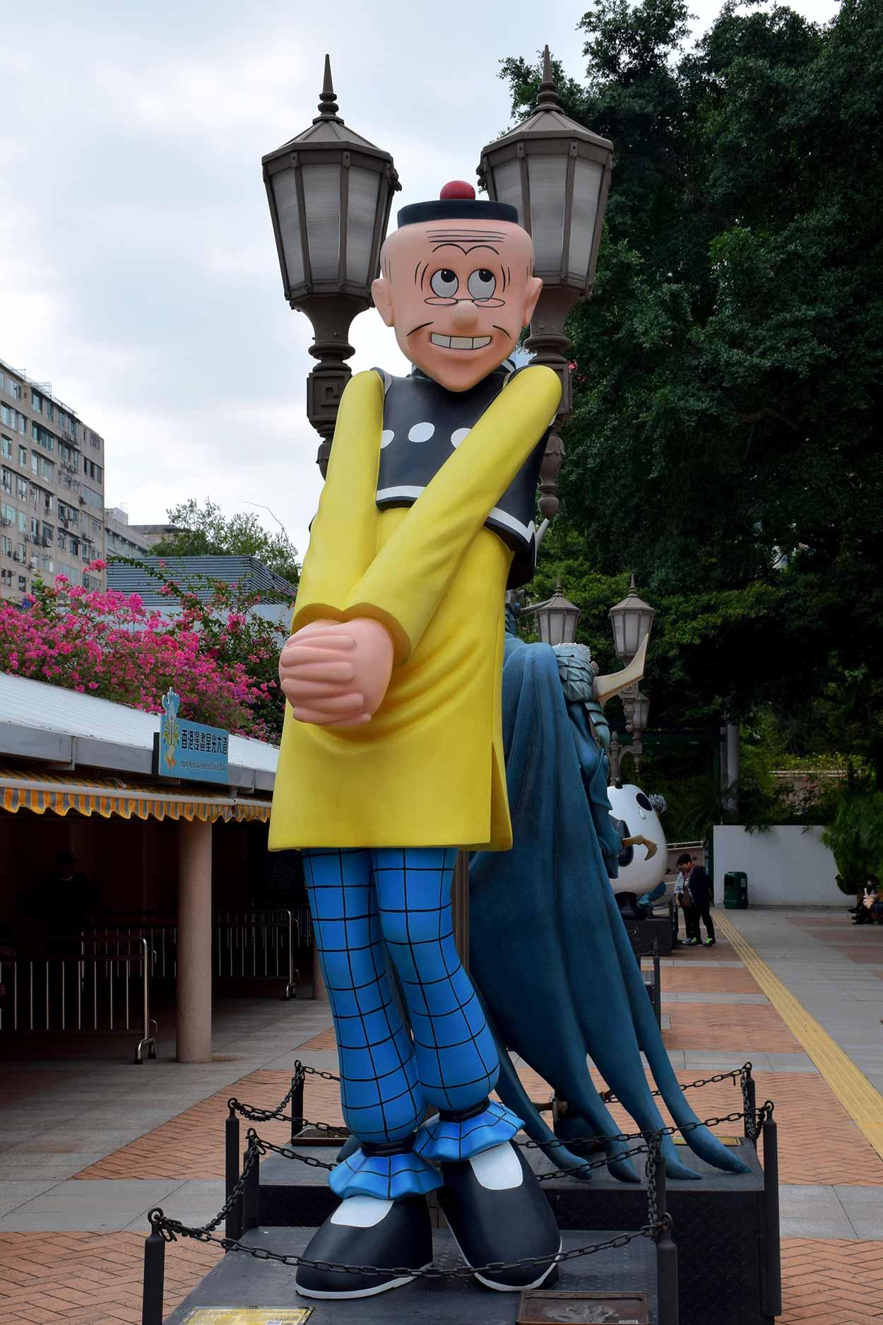 Old Master Q on the Hong Kong Avenue of Comic Stars, Kowloon Park, Hong Kong, China