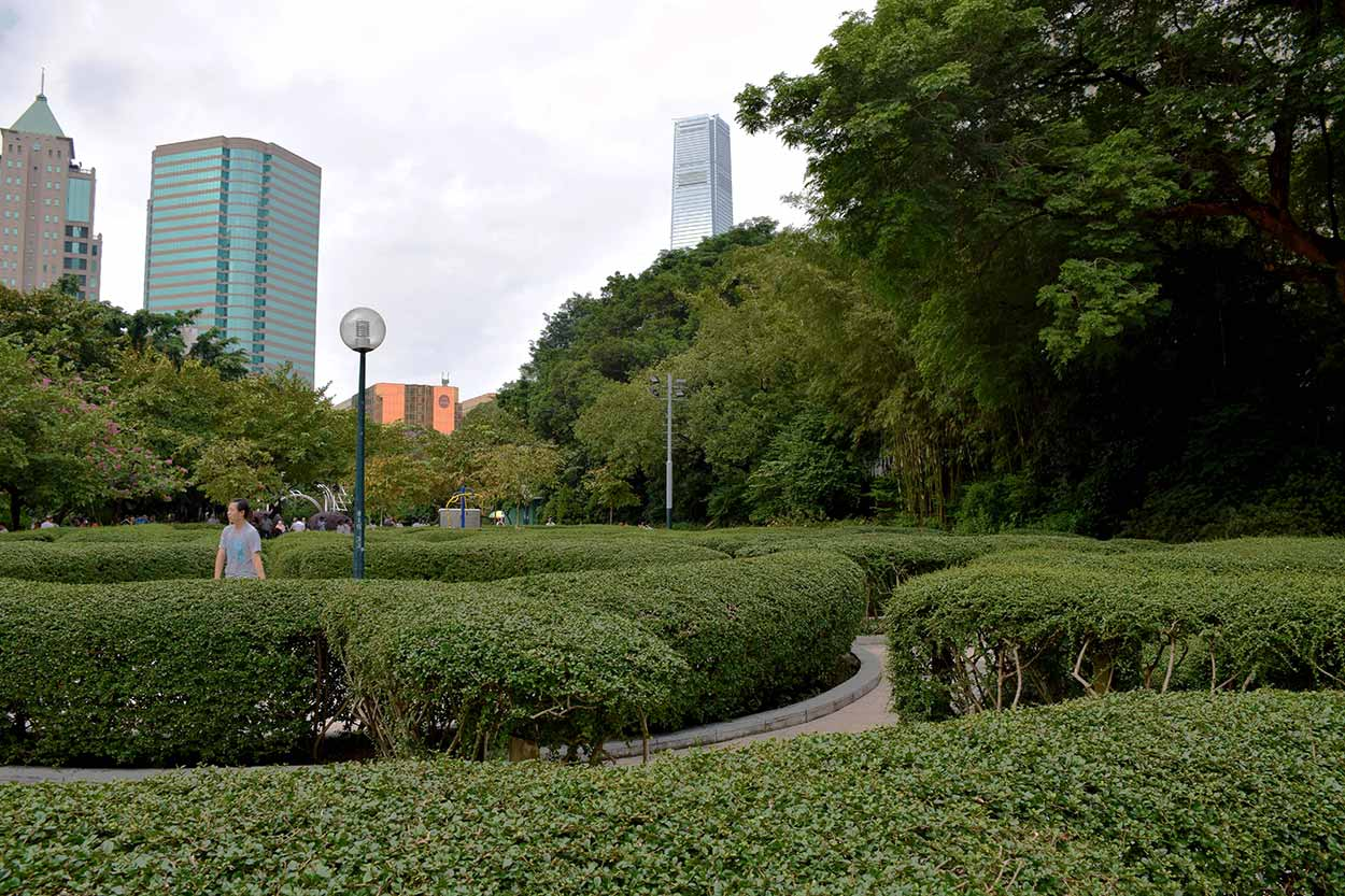 Lost in the Maze Garden, Kowloon Park, Hong Kong, China