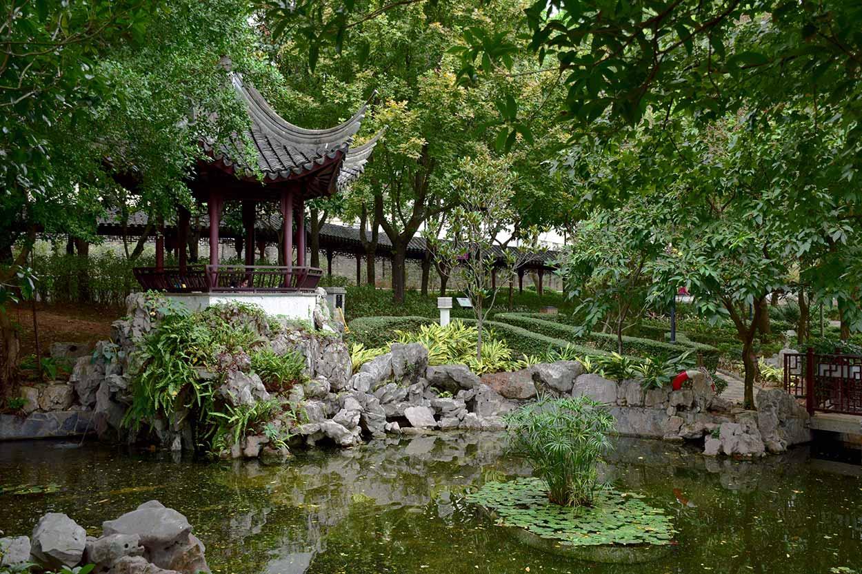 Yuk Tong Pavilion, Kowloon Walled City Park, Hong Kong, China