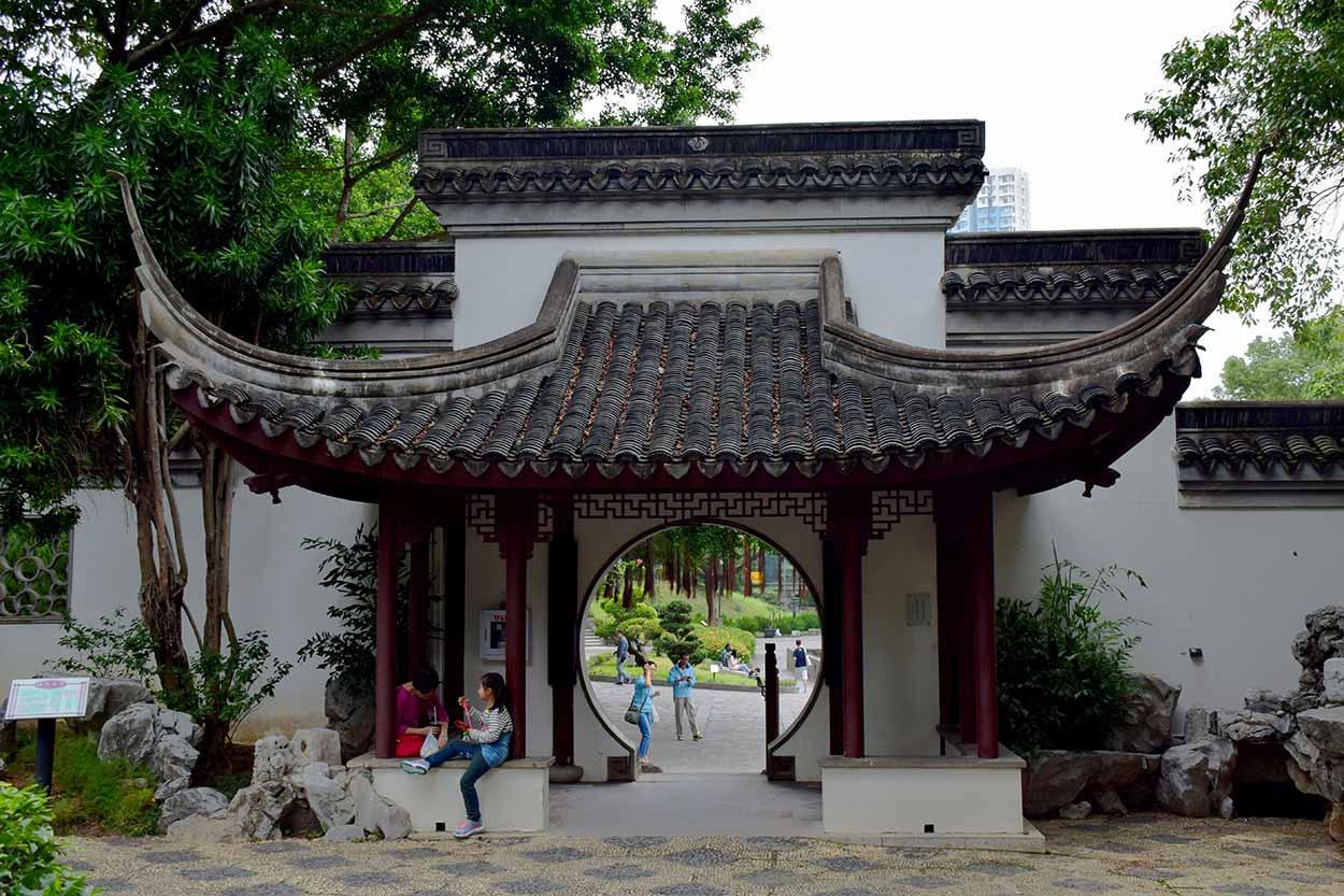 Fui Sing Pavilion, Kowloon Walled City Park, Hong Kong, China
