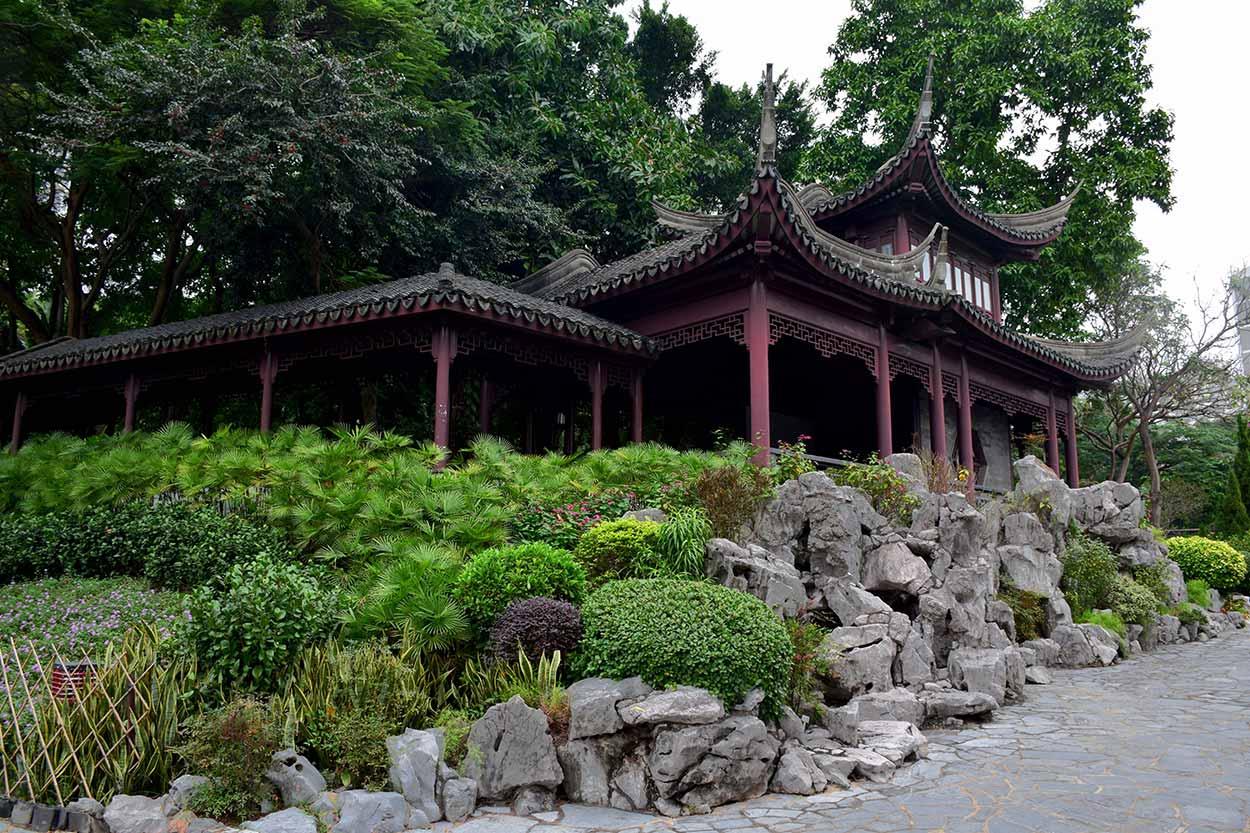 The Mountain View Pavilion, Kowloon Walled City Park, Hong Kong, China