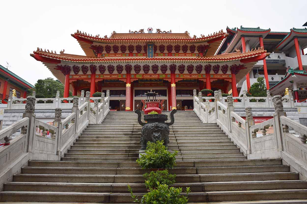 Fung Ying Seen Koon main temple, Fanling, Hong Kong, China