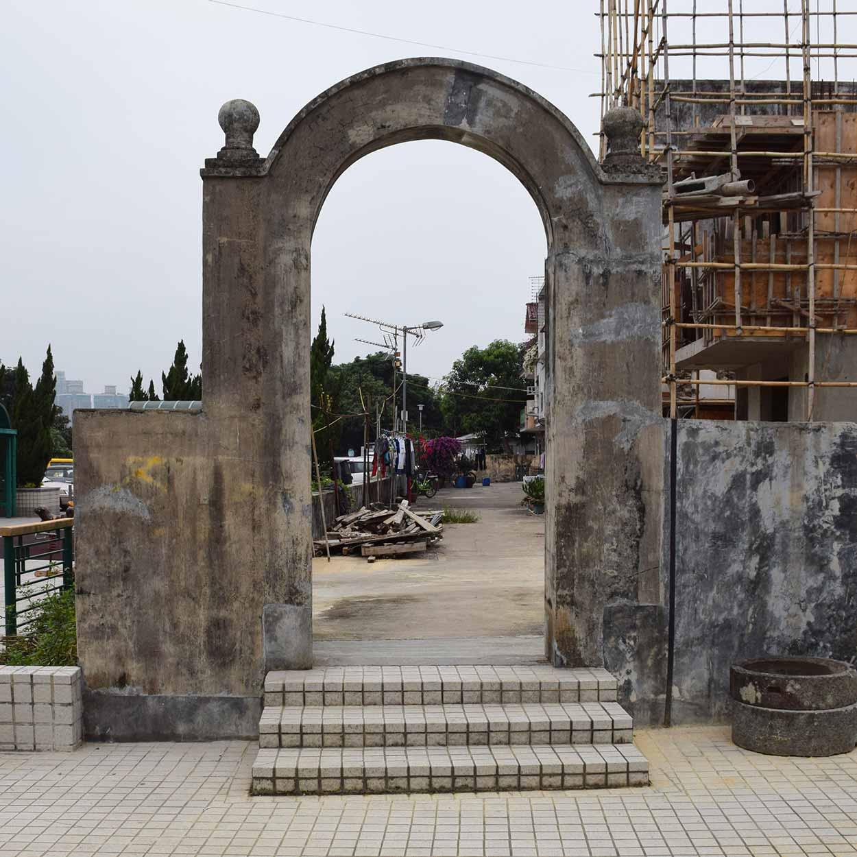 The archway at Siu Hang Tsuen, Lung Yeuk Tau Heritage Trail, Hong Kong, China