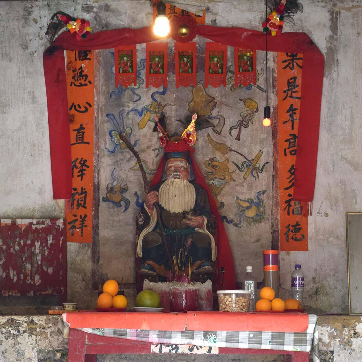 Fok Tak Tsz shrine to the Earth God, Lung Yeuk Tau Heritage Trail, Hong Kong, China