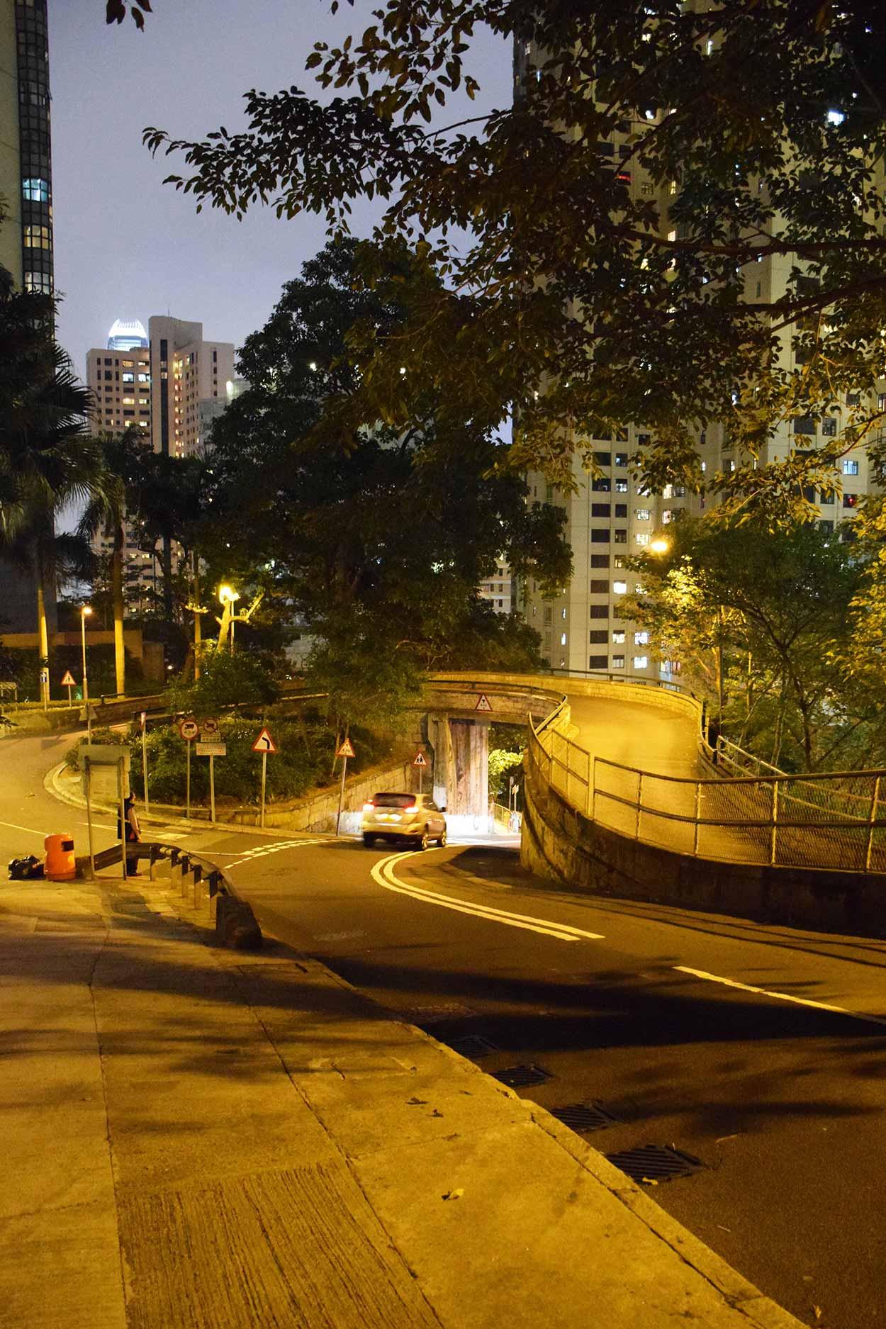 Walking along Old Peak Road, The Mid Levels, Hong Kong, China
