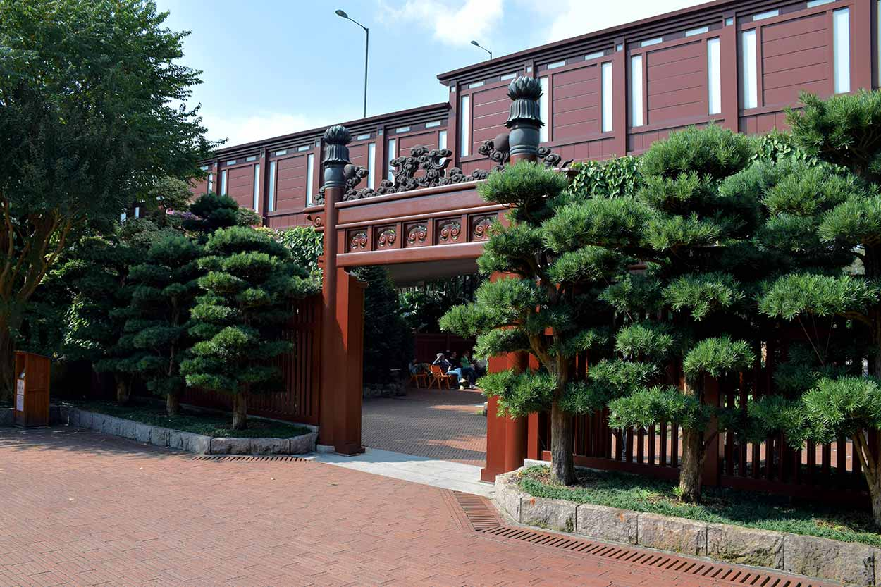 The Black Lintel Gate and entrance, Nan Lian Garden, Hong Kong, China