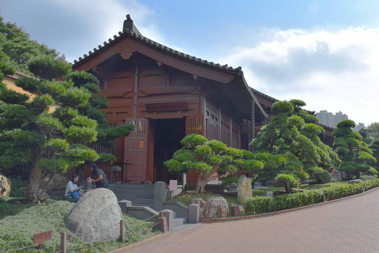 The Chinese timber architecture gallery, Nan Lian Garden, Hong Kong, China