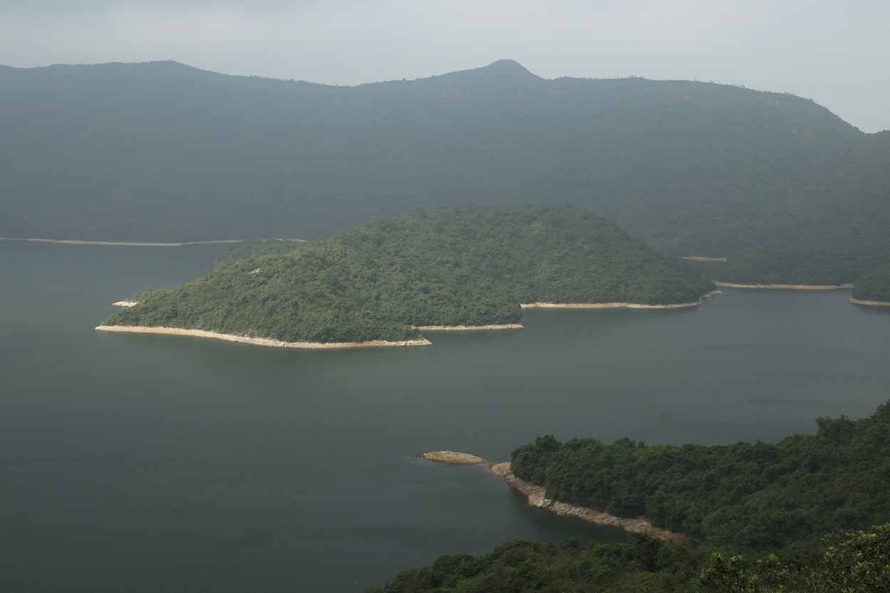 Views over the reservoir, Plover Cove Reservoir Country Trail, Hong Kong, China