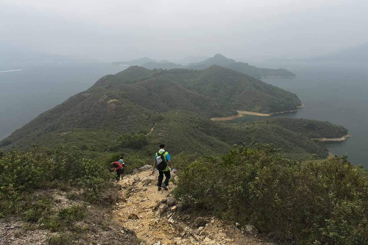 Spectacular water and park views, Plover Cove Reservoir Country Trail, Hong Kong, China