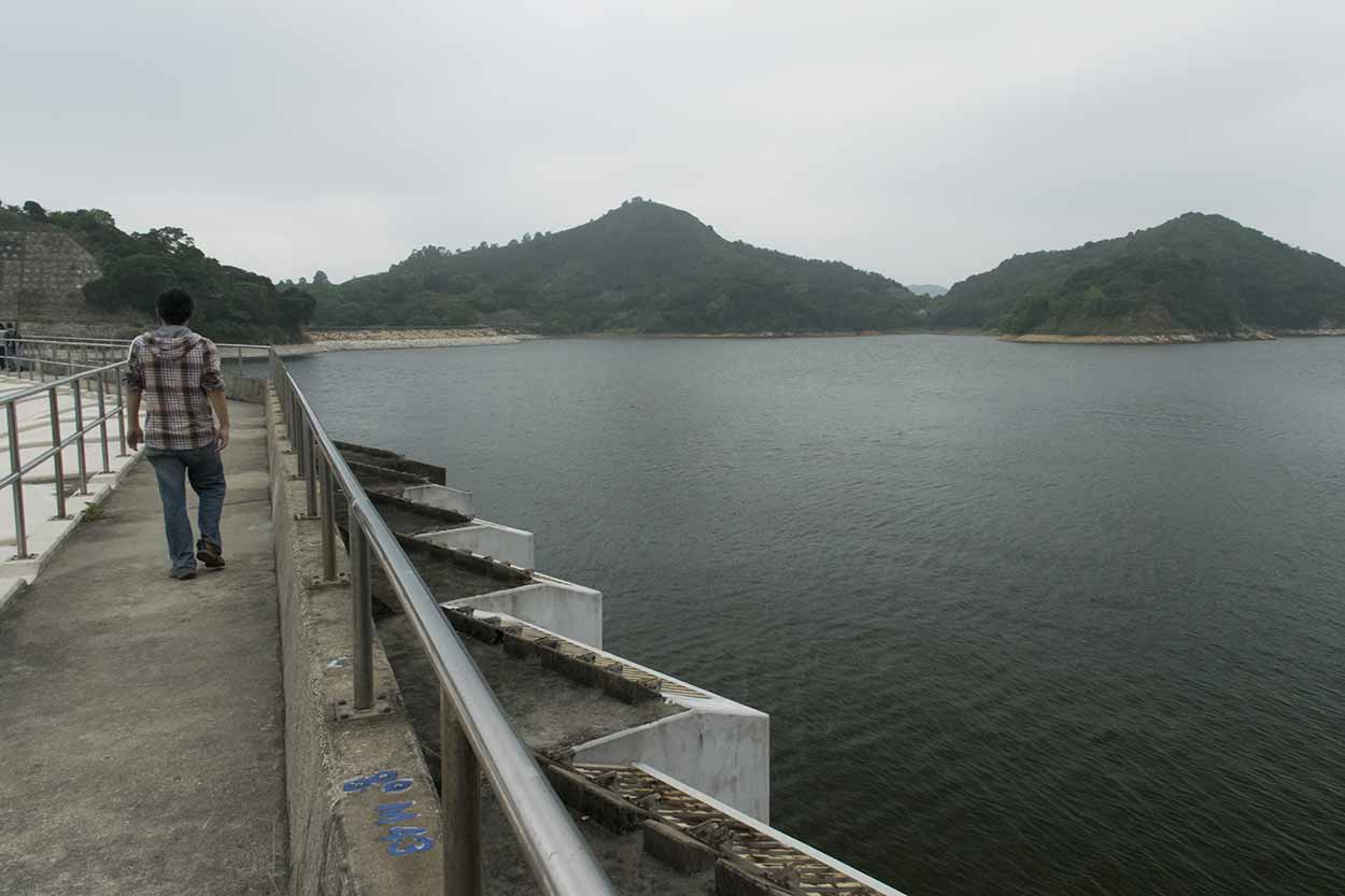 Reservoir spillway, Plover Cove Reservoir Country Trail, Hong Kong, China