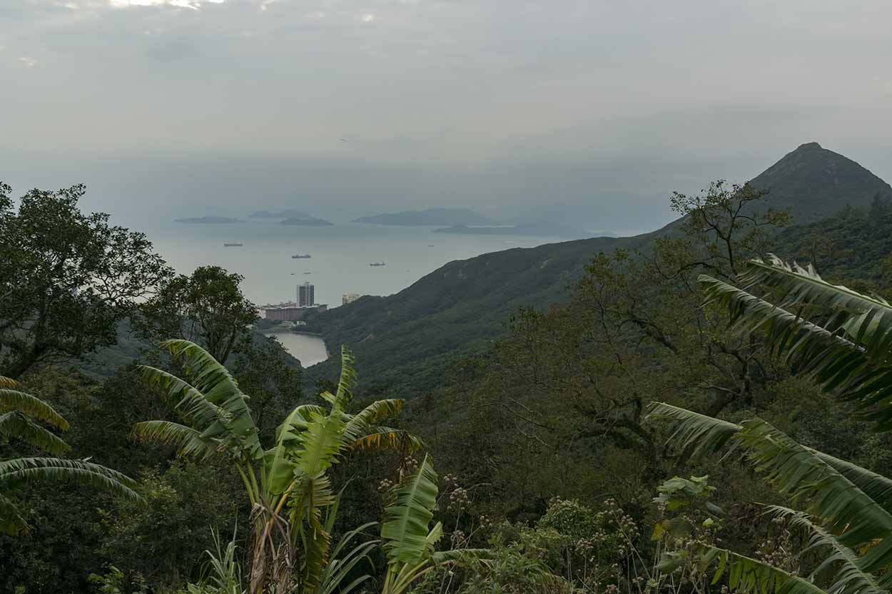 Views of Mount High West and the outlying island, The Peak, Hong Kong, China