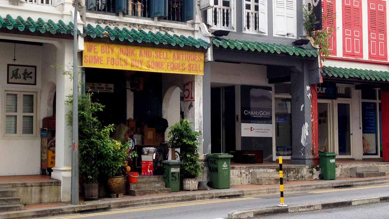 Antique store on Craig Road, Chinatown, Singapore