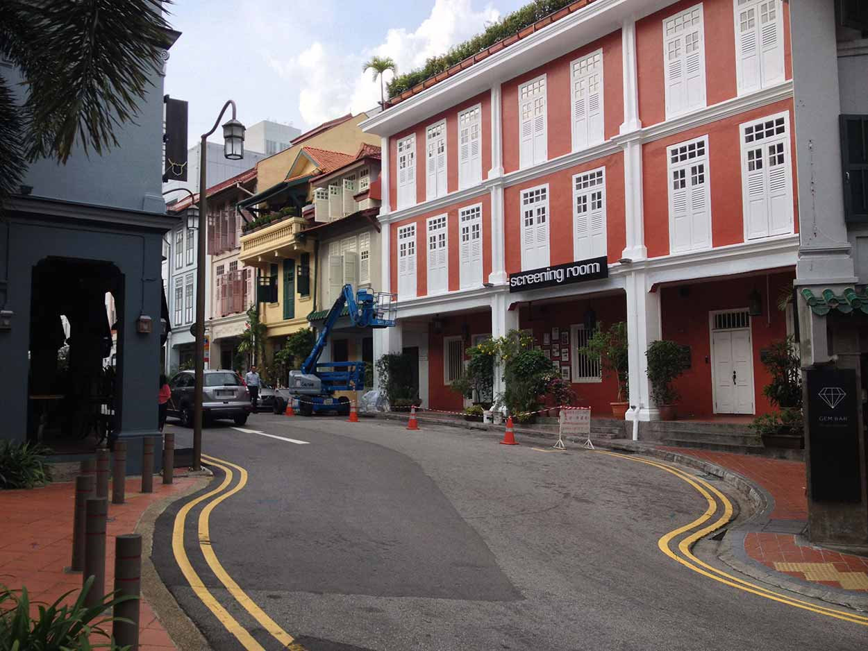 Shophouses along Ann Siang Road, Chinatown, Singapore