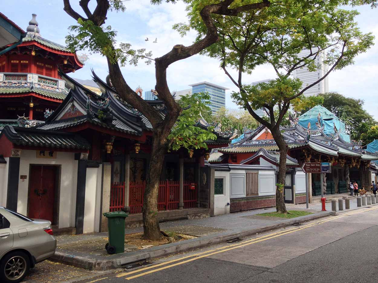 Thian Hock Keng Temple on Telok Ayer Street, Chinatown, Singapore