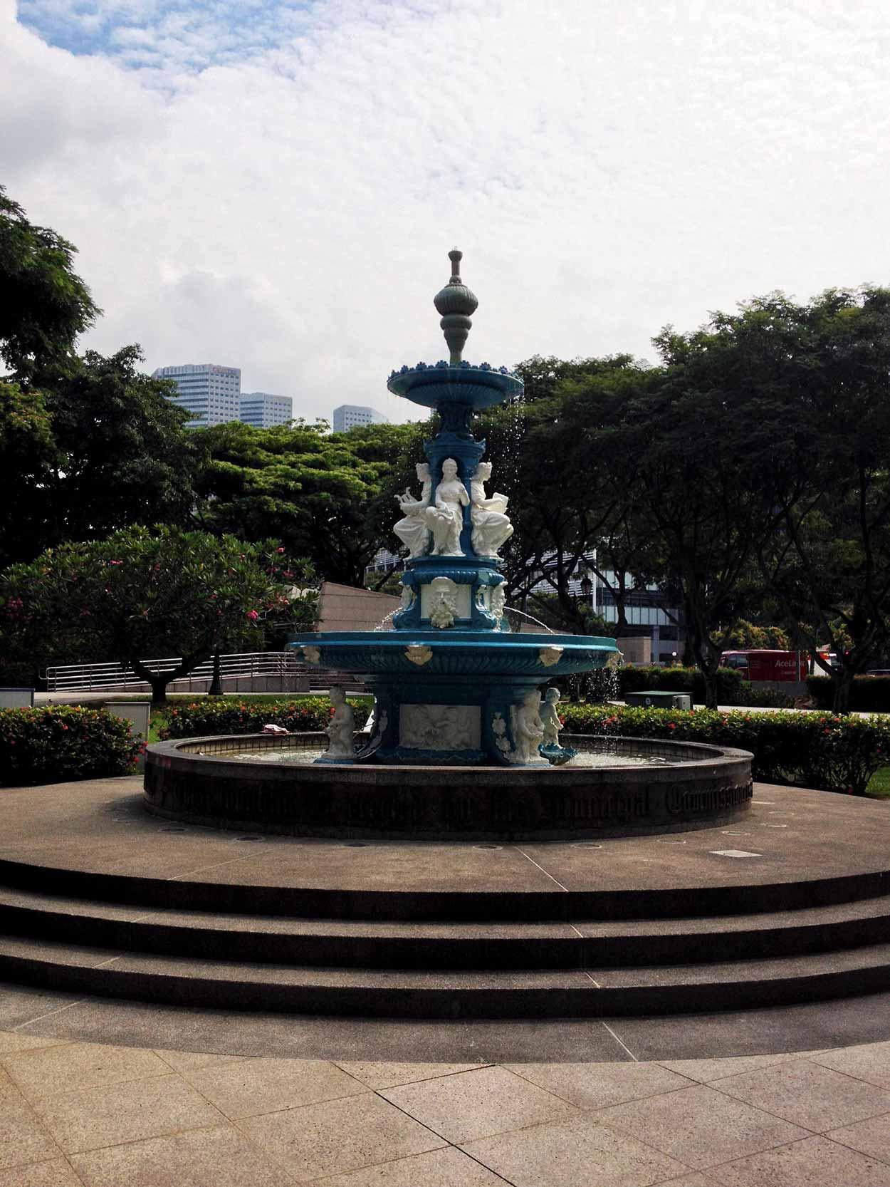 The Tan Kim Seng Fountain in Esplanade Park, Colonial District, Singapore