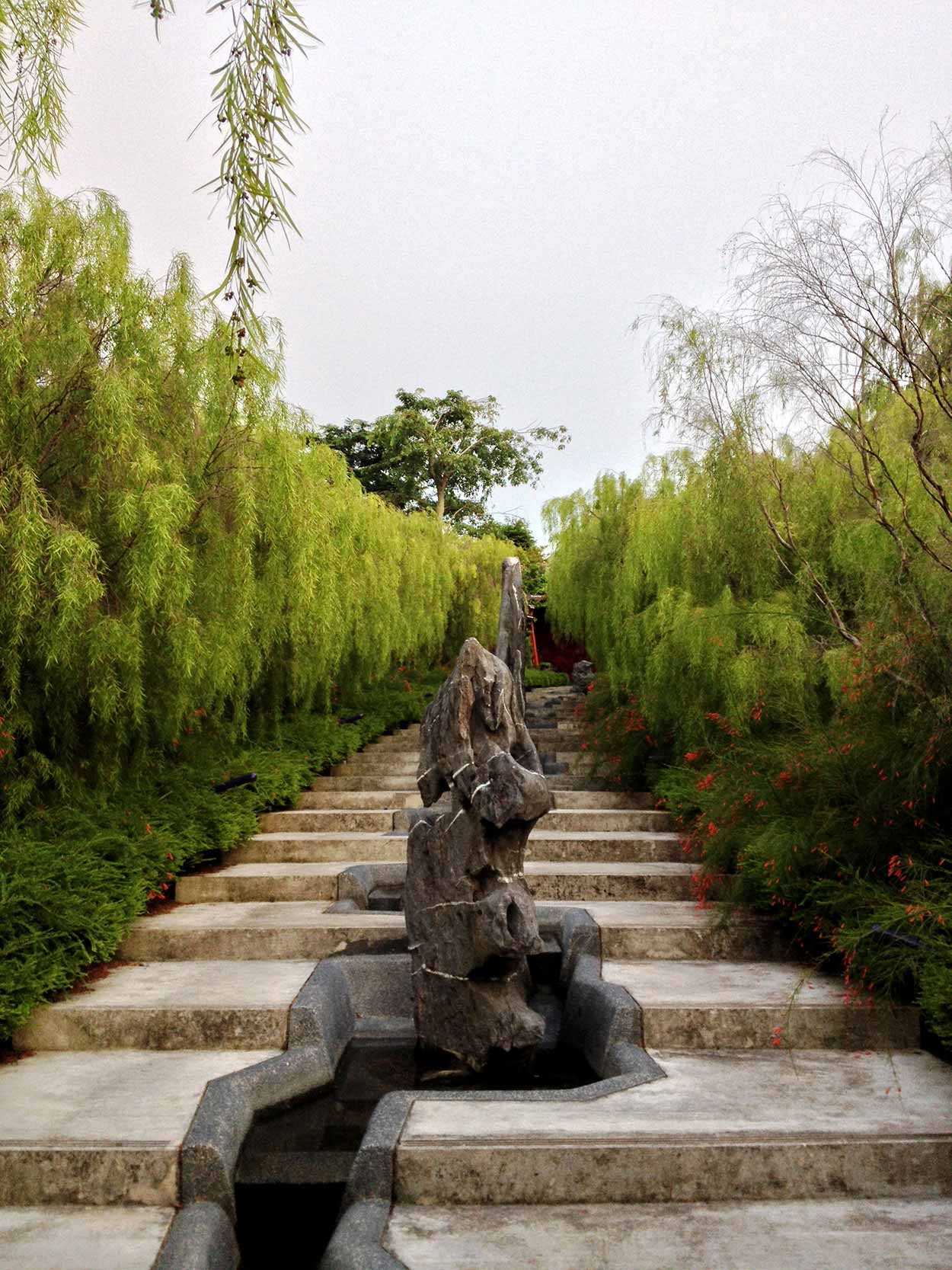 A path/waterway to the Chinese Garden, Gardens by the Bay, Singapore