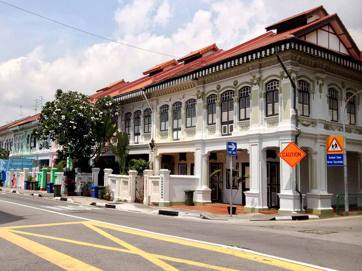 Shophouse at the corner of Koon Seng Road and Tembeling Road, Joo Chiat, Singapore
