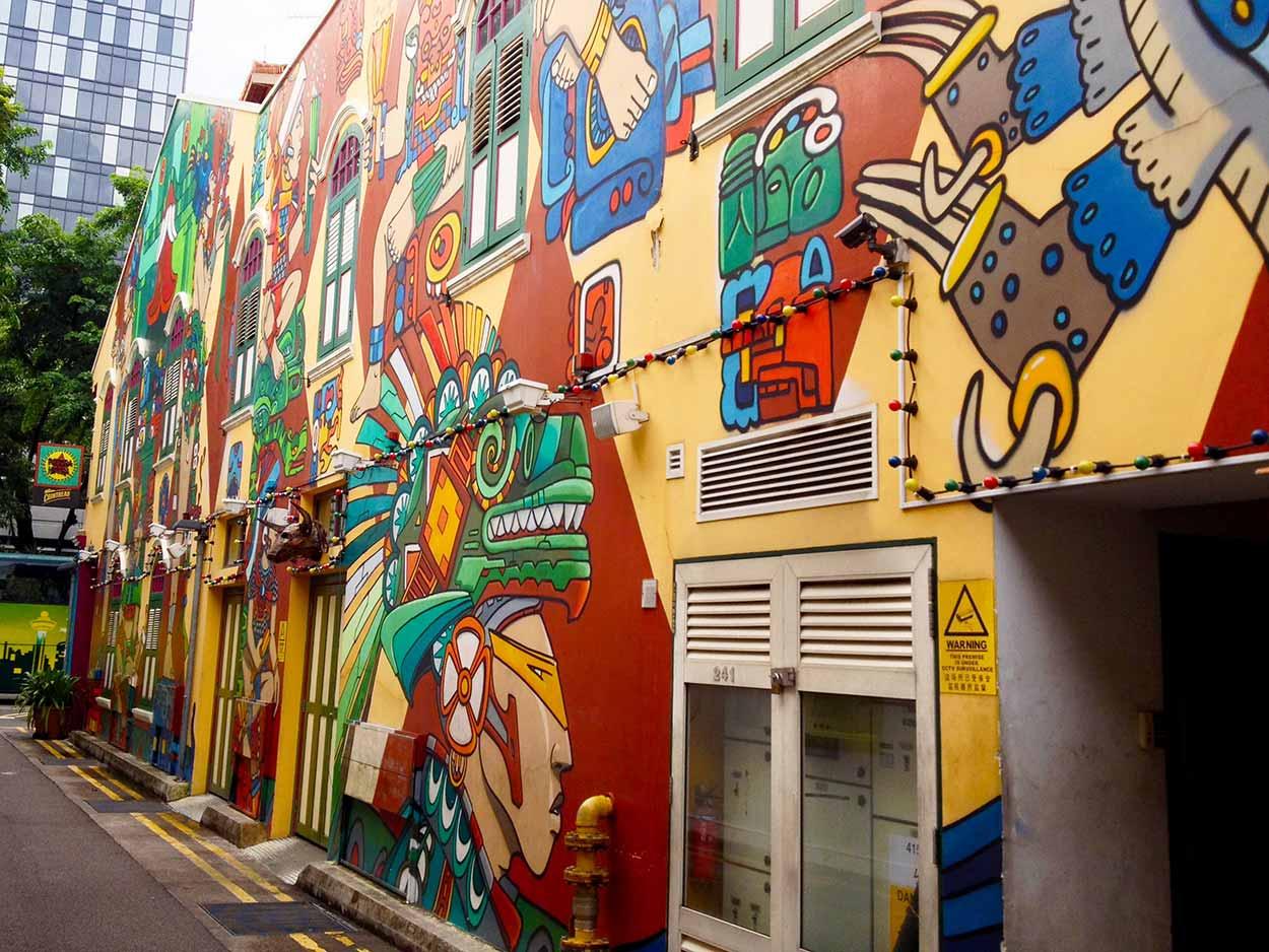 Street Art on Haji Lane, Kampong Glam, Singapore