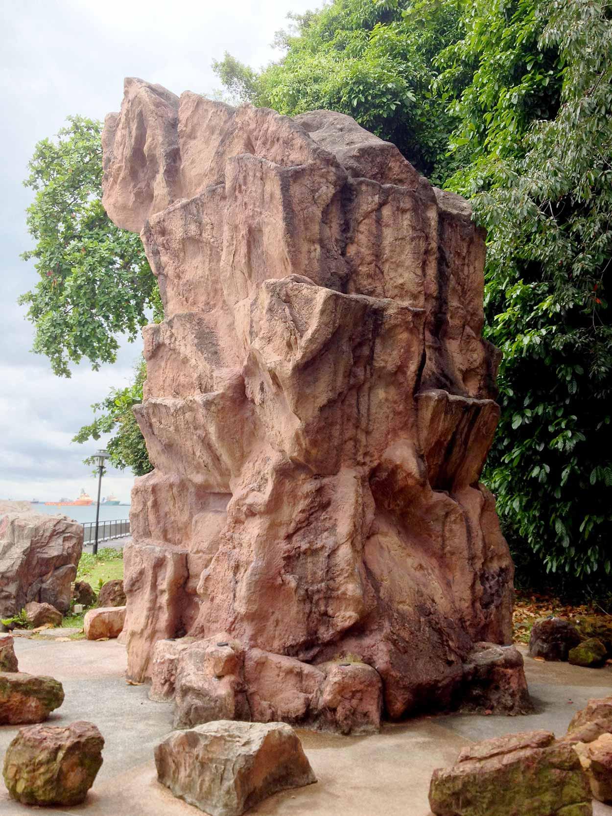 A fibreglass replica of the Dragon's Teeth Gate rock, Labrador Nature Reserve, Singapore