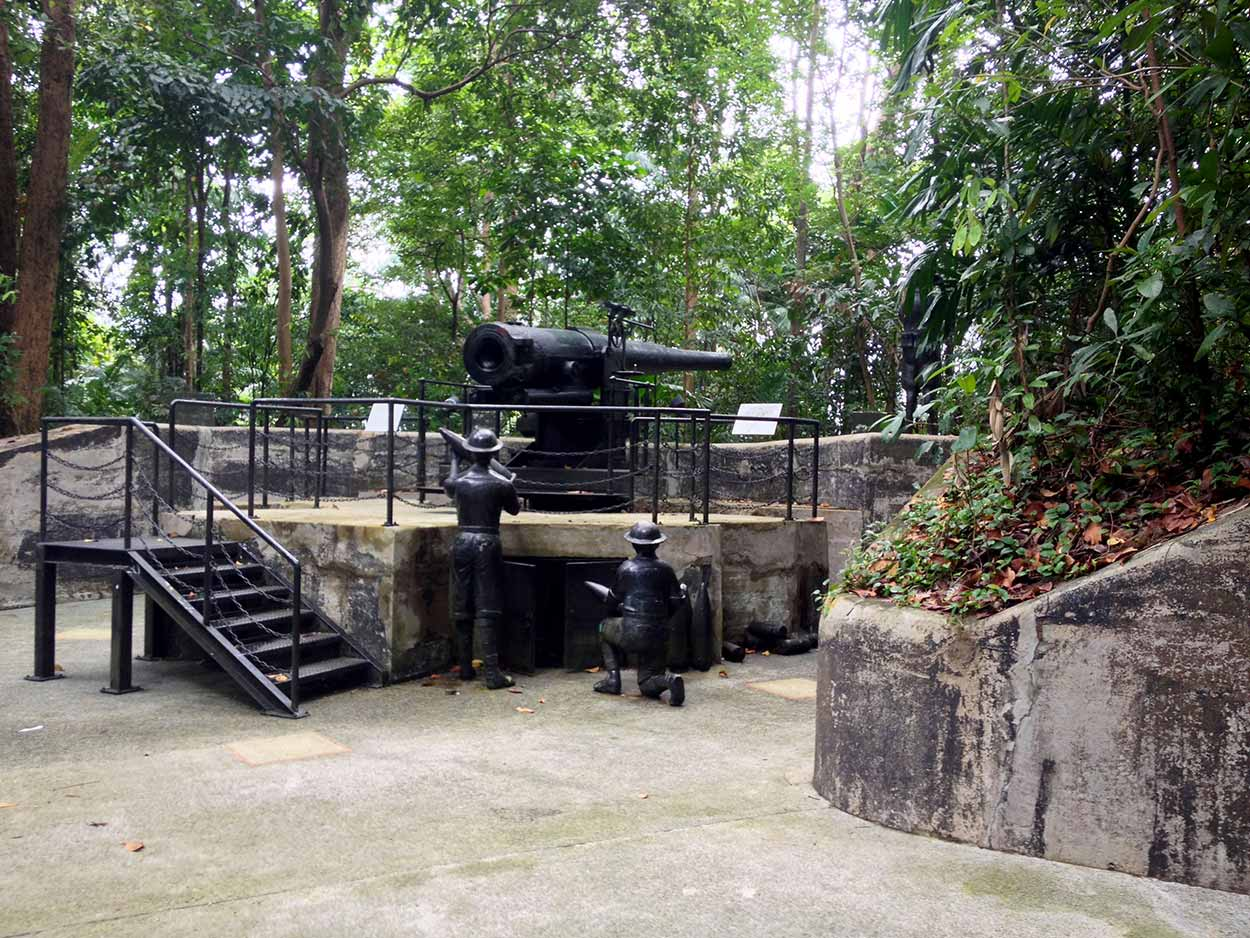 An authentic 6-inch quick firing cannon, Labrador Nature Reserve, Singapore