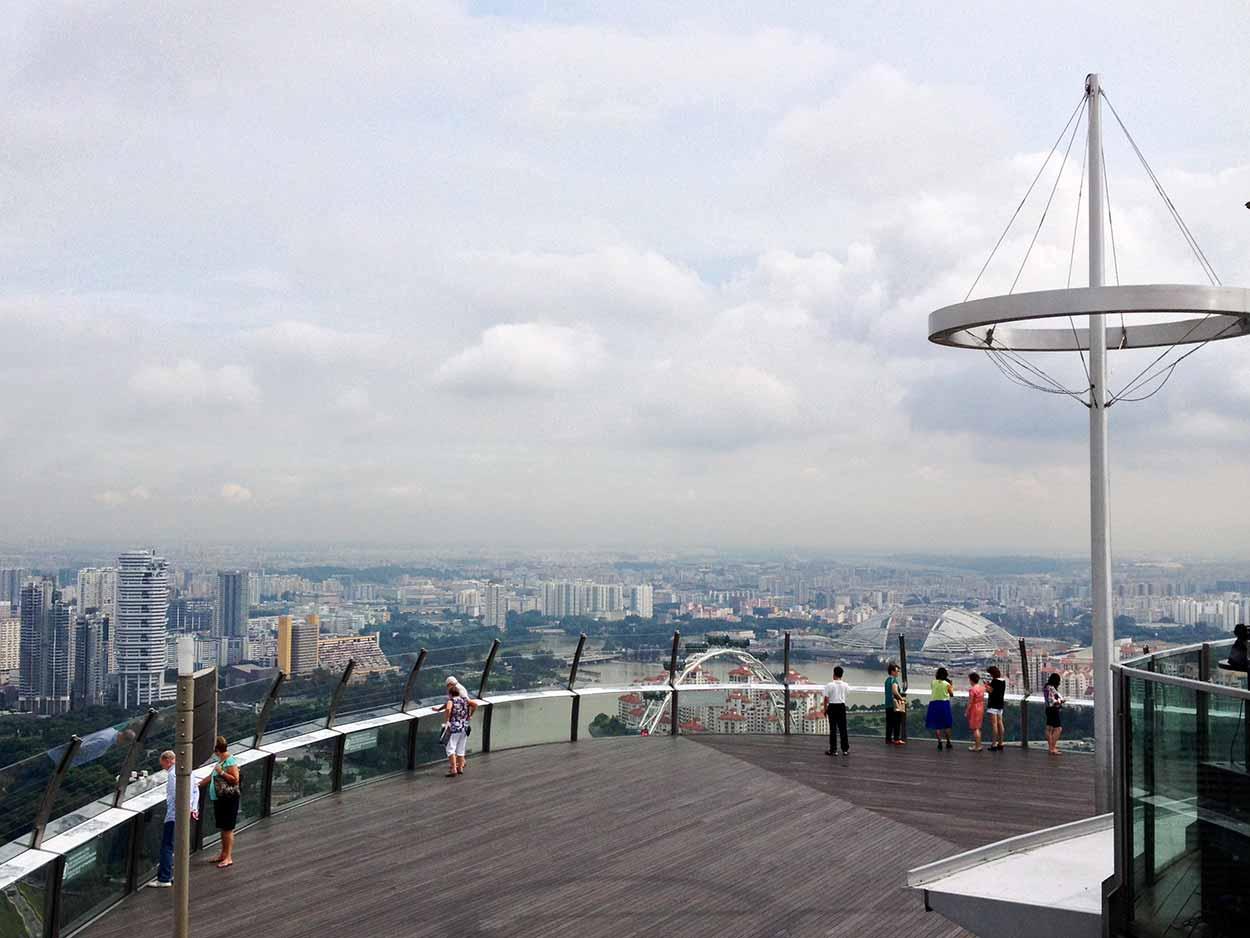 The view from the Marina Bay Sands SkyPark, Marina Bay, Singapore