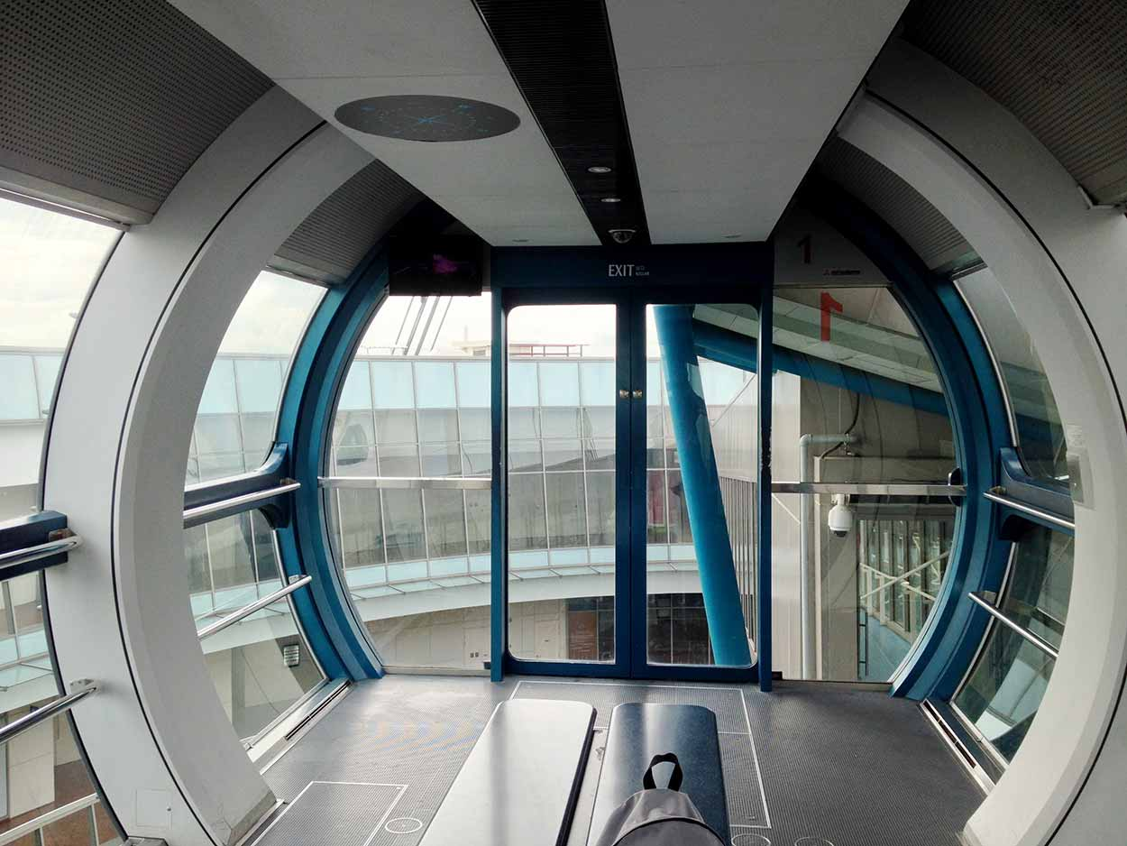 Inside my own personal capsule of the Singapore Flyer, Singapore