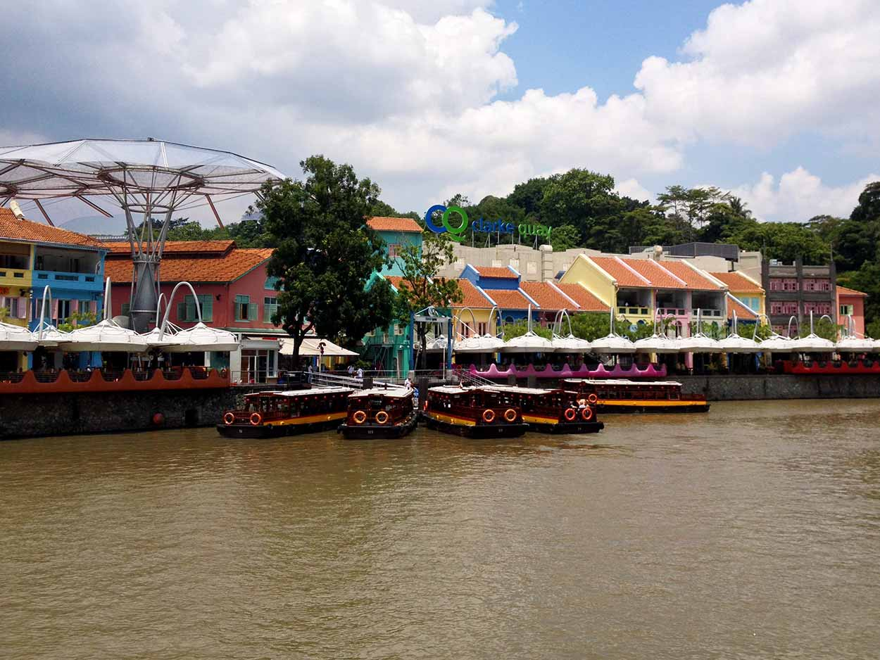 The converted godowns (warehouses) and shophouses of Clarke Quay, Singapore River, Singapore