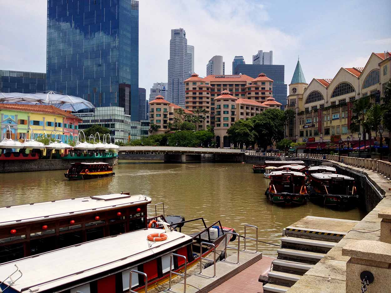 Bumboats on the Singapore River, Singapore