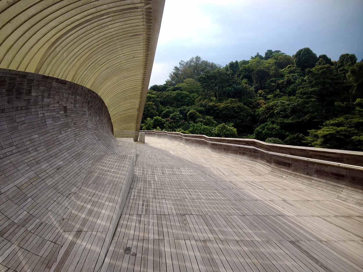 Walking across the Henderson Waves, Southern Ridges Walk, Singapore